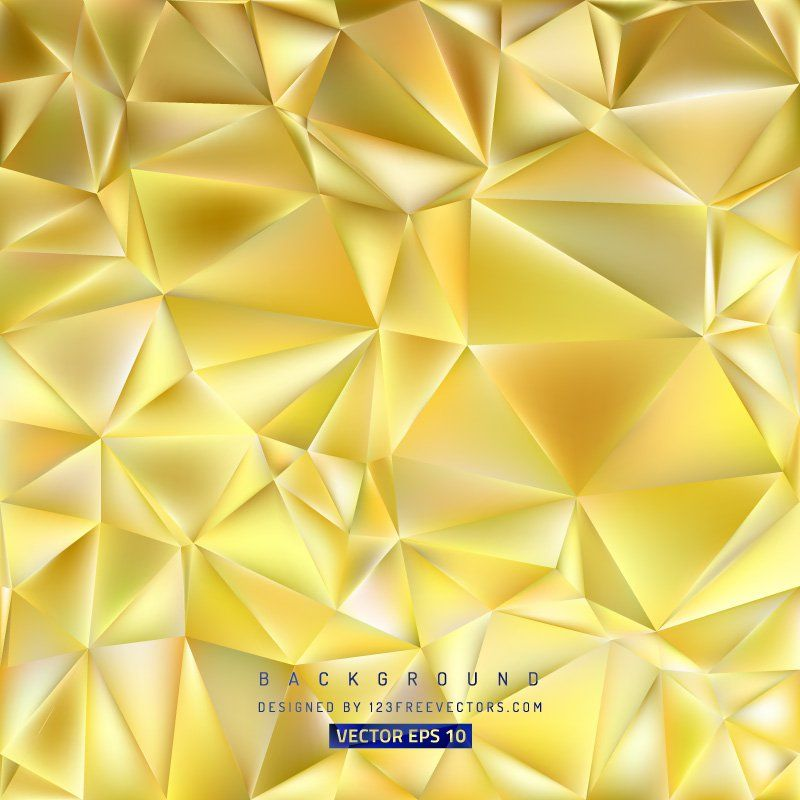 Yellow Polygon Background Template #freevectors | vectors ...