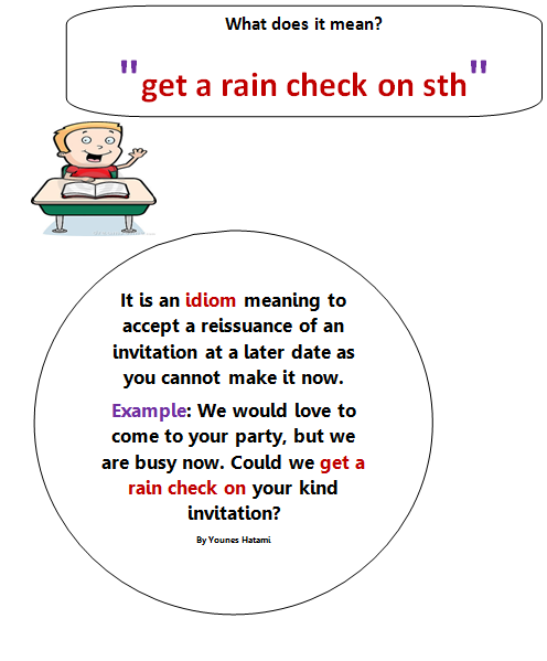 What does rain check mean in dating