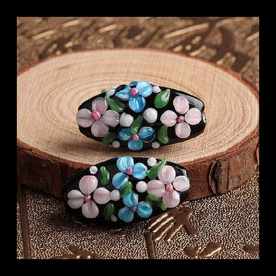 2PCS Daisy Beads FOR Design Murano by Jewelrycraftbox on Etsy