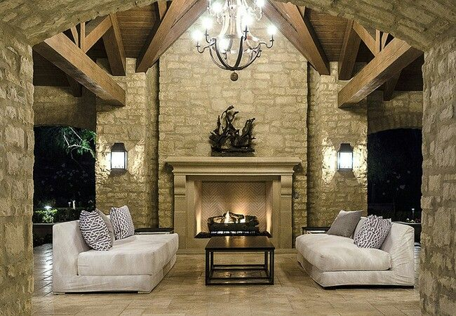 A Fireplace Cozy Sofas Elegant Lighting The Only Thing Missing Here Is Walls This Fabulous Ou Kardashian Home Kim Kardashian Home Kim Kardashian And Kanye