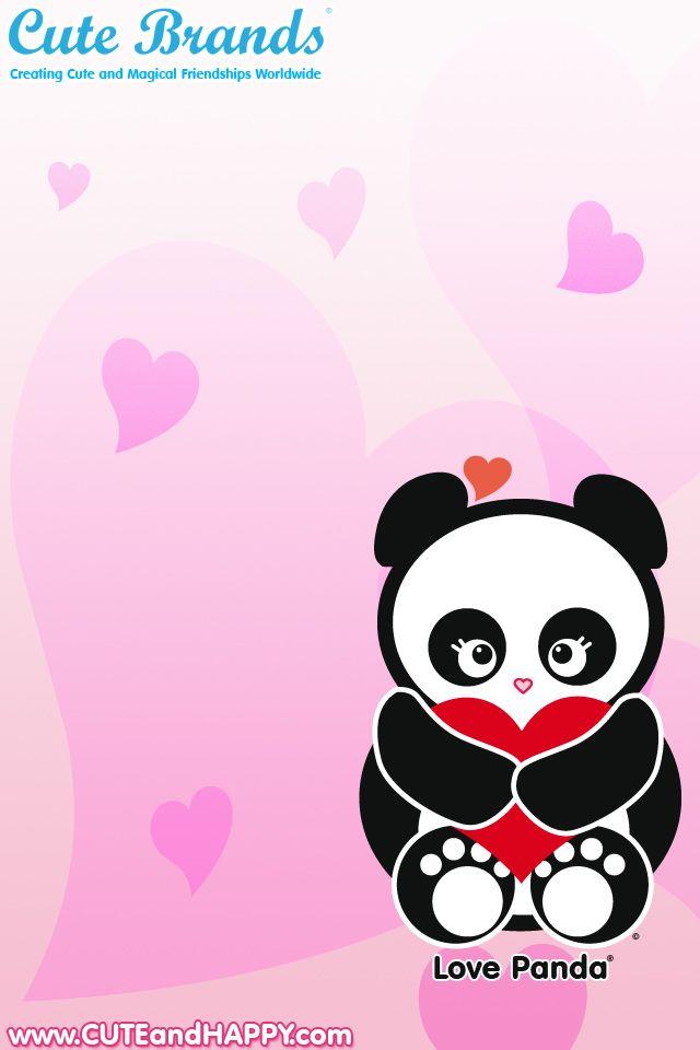 Panda With Heart Iphone 4 Love Panda Wallpaper From Http Cutebrands Net Cute Fan Club Download Panda Wallpapers Cute Panda Wallpaper Panda Background