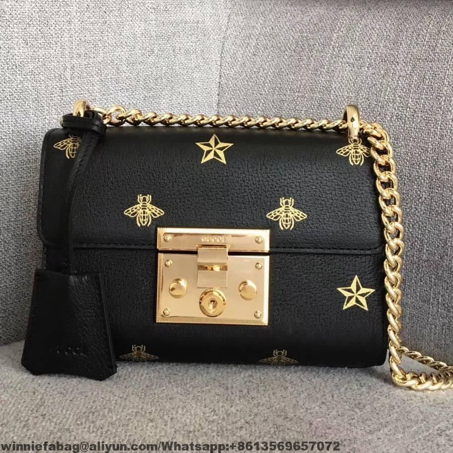 48c79ce77 Gucci Padlock Bee Star Small Shoulder Bag 432182 2018 | Gucci in ...