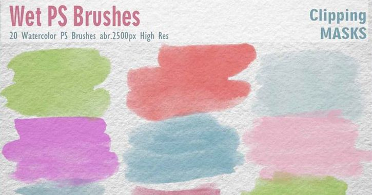 Top Free Photoshop Watercolor Brushes For Designers Texturas