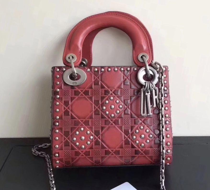 796523241 Christian Dior Cruise 2018 MINI LADY DIOR BAG IN RED STUDDED CALFSKIN -  Bella Vita Moda #christiandior #diorbag #ladydior #diorlover #baglover  #bagforsale ...