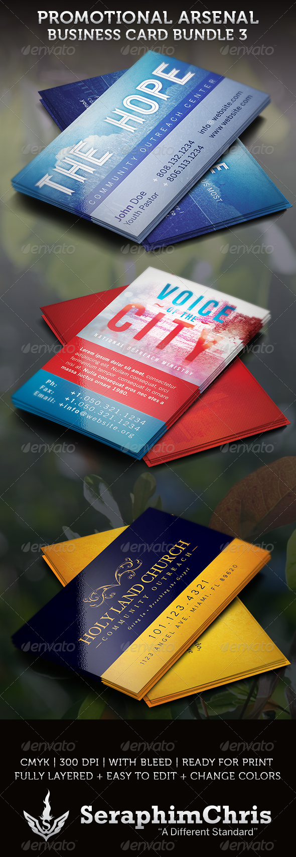 Promotional arsenal business card bundle 3 business cards this promotional arsenal business card bundle 3 is compiled to give you a great value with 4 distinct for churches and evangelic outreach colourmoves
