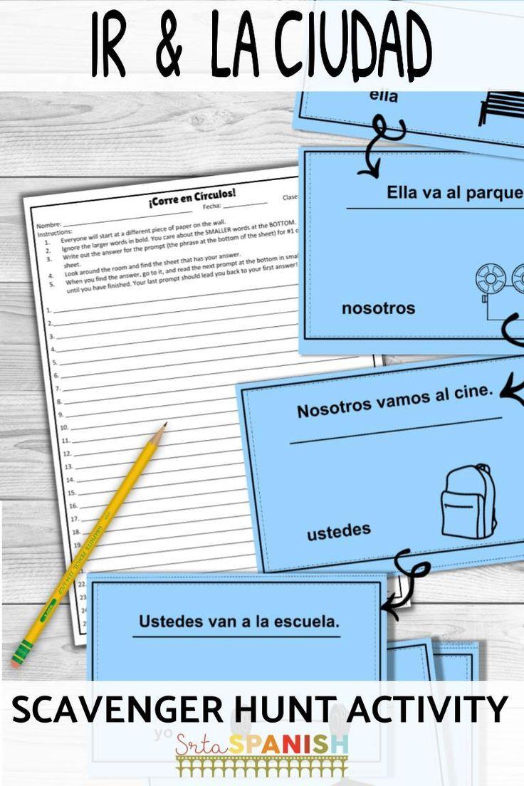 Ir And La Ciudad Corre En Circulos Spanish Lesson Plans High School Spanish High School Spanish Classroom [ 1104 x 736 Pixel ]