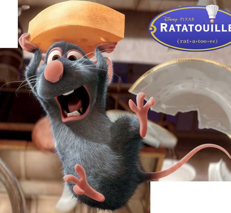 Ratatouille cartoon pinterest - Cuisiner la ratatouille ...