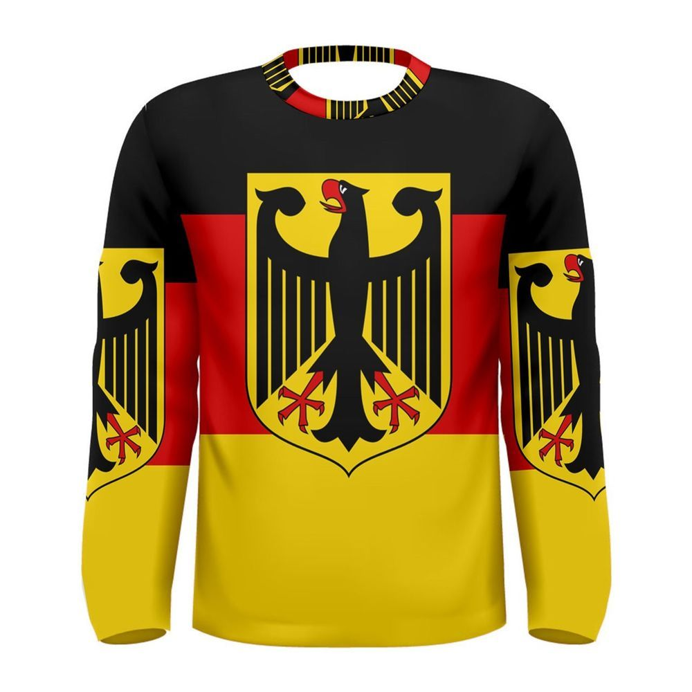 New Germany German Flag Sublimated Men/'s Sport Mesh Tee t shirt FREE SHIPPING