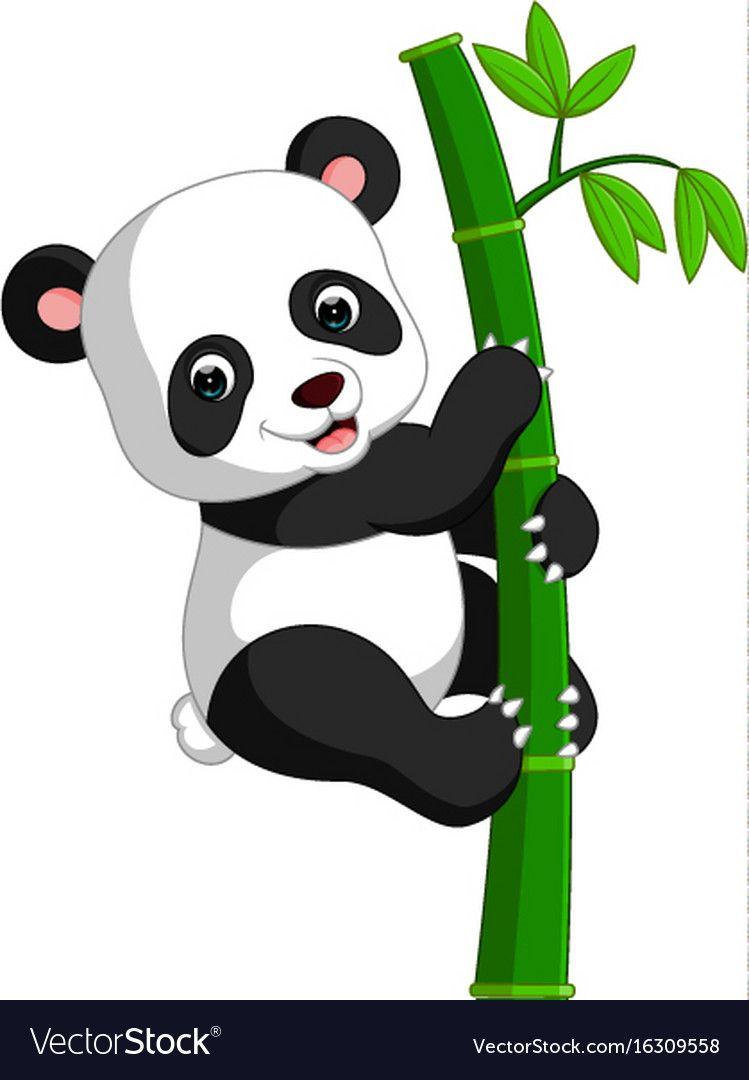 illustration of cute panda cartoon. Download a Free