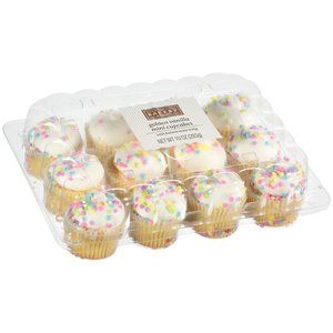 The Bakery At Walmart Mini Golden Vanilla Cupcakes With Buttercreme Icing 10 Oz