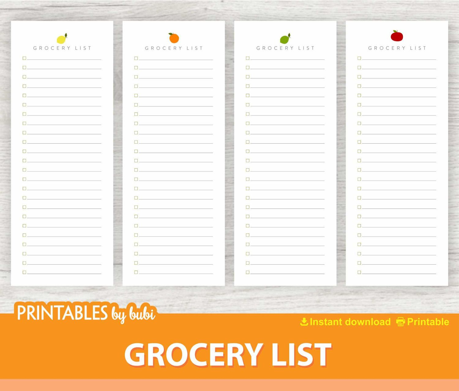 Shopping List Printable Grocery List Pad Printable Notepad Half Letter Page 4 25 X 11 Grocery List Pad Grocery List Printable Grocery Shopping List Printable Grocery list with prices template