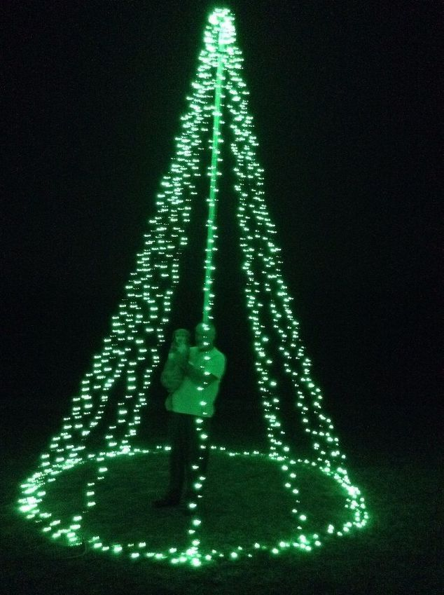 Every christmas i get tree envy so this year i made a giant 18 every christmas i get tree envy so this year i made a giant 18 foot tall tree for my yard christmas tree solutioingenieria Images