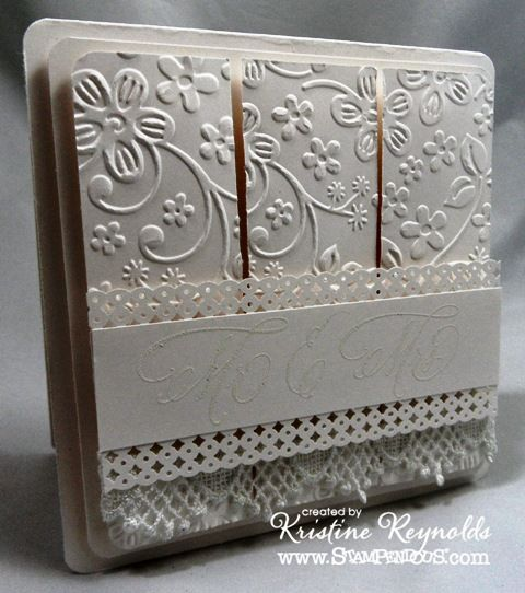 Darice Embossing Folders Gallery | It was hard to get a good picture of the sentiment but it's Married ...