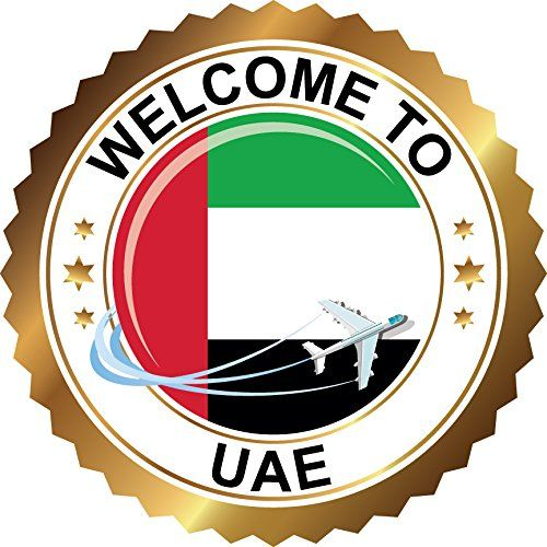 United Arab Emirates Travel Welcome Label Home Decal Vinyl Sticker 12 X 12 Check Out The Image By Visit Window Stickers Car Bumper Stickers Bumper Stickers