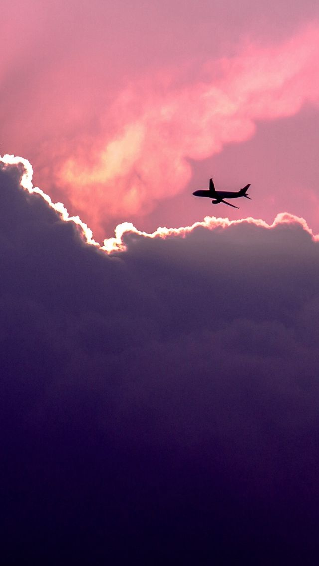 Plane Above Sunset Clouds Iphone 5s Wallpaper Download Iphone Wallpapers Ipad Wallpape Iphone 5s Wallpaper Plane Wallpaper Iphone Wallpaper Tumblr Aesthetic