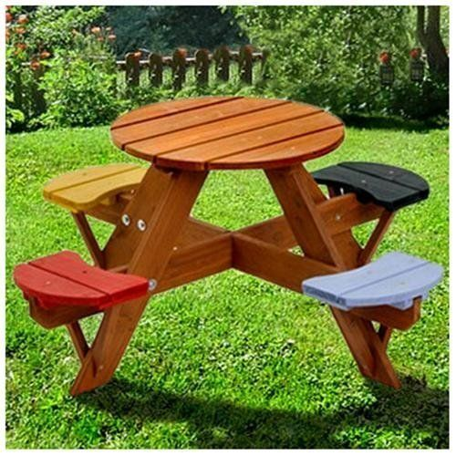 Summer In Style Kid Sized Outdoor Furniture Kids Picnic Table Outdoor Picnic Tables Picnic Table