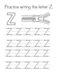 Uppercase Letter Z Worksheet Free Printable Preschool And