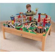 Great KidKraft Airport Express Wood Train Table U0026 Toy Set 17975 $138