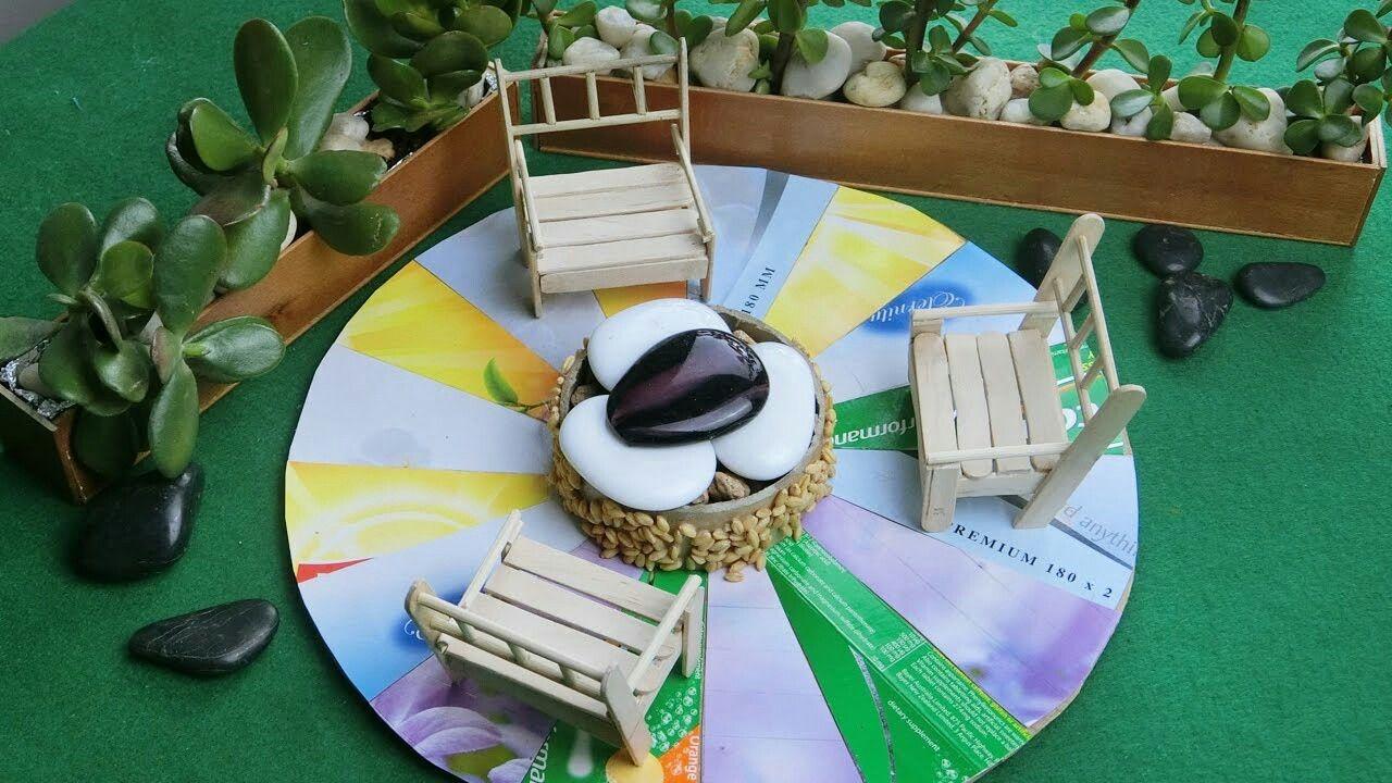 Miniature Backyard Fire Pit Popsicle Stick Craft Idea