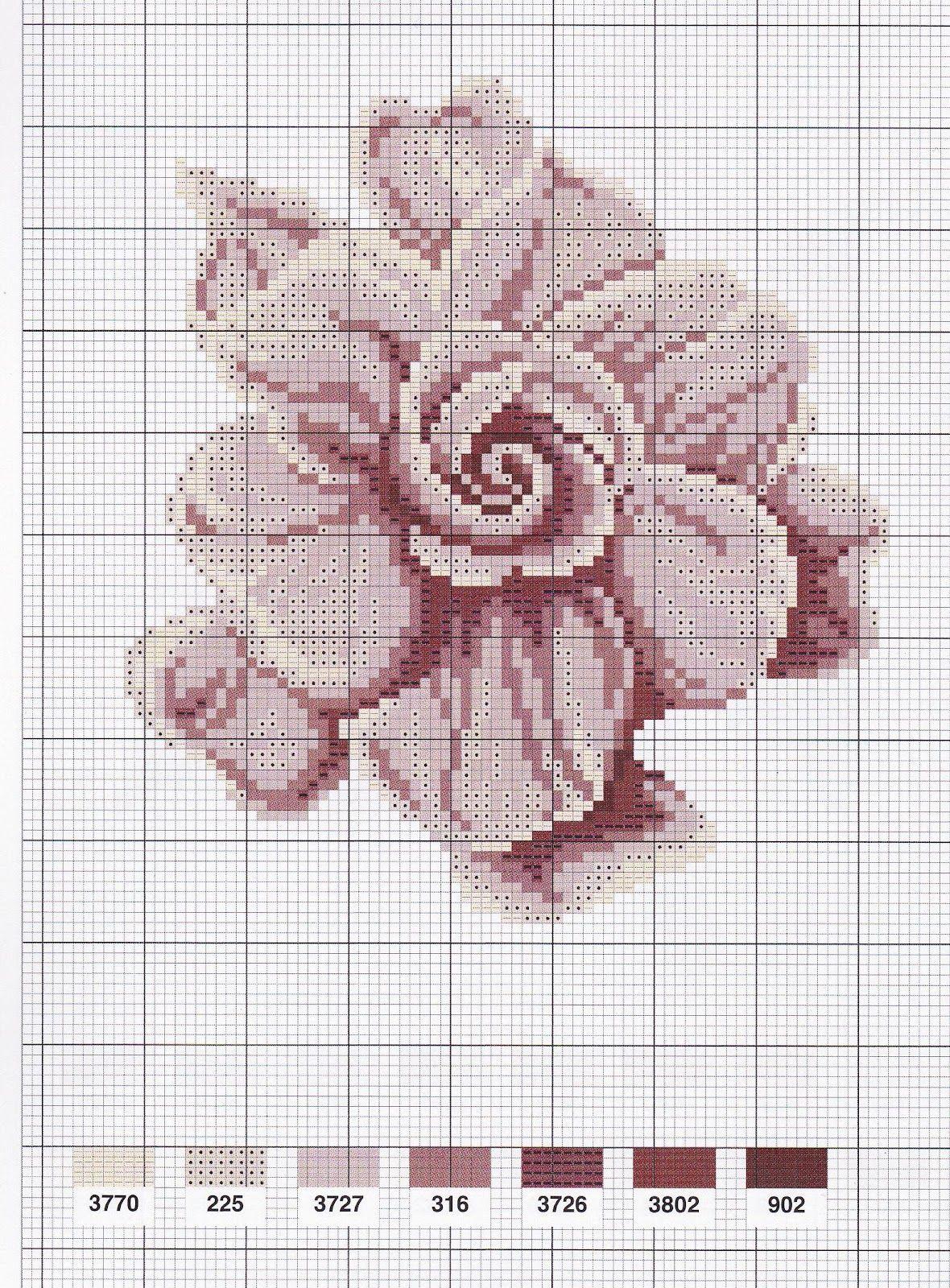 Point de croix fleurs*m@* Cross stitch | Point de croix, Modèles de point de croix et Fleurs au ...