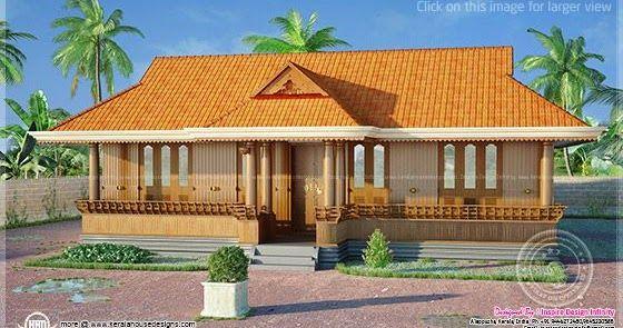 1250 Square Feet Traditional Nalukettu Home Kerala Traditional House Beautiful House Plans House Plans With Photos