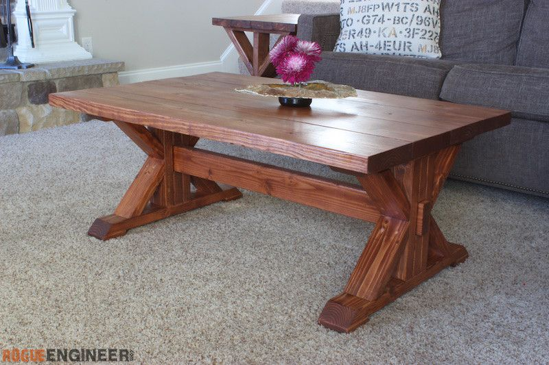 Trestle Coffee Table Free Diy Plans Rogue Engineer Coffee Table Farmhouse Diy Farmhouse Coffee Table Coffee Table Inspiration