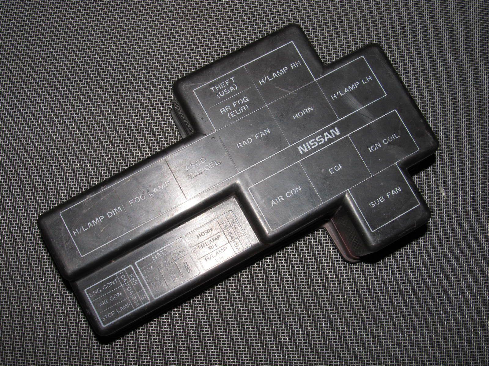 94 01 acura integra oem brown fuse box cover autopartone com rh pinterest com au