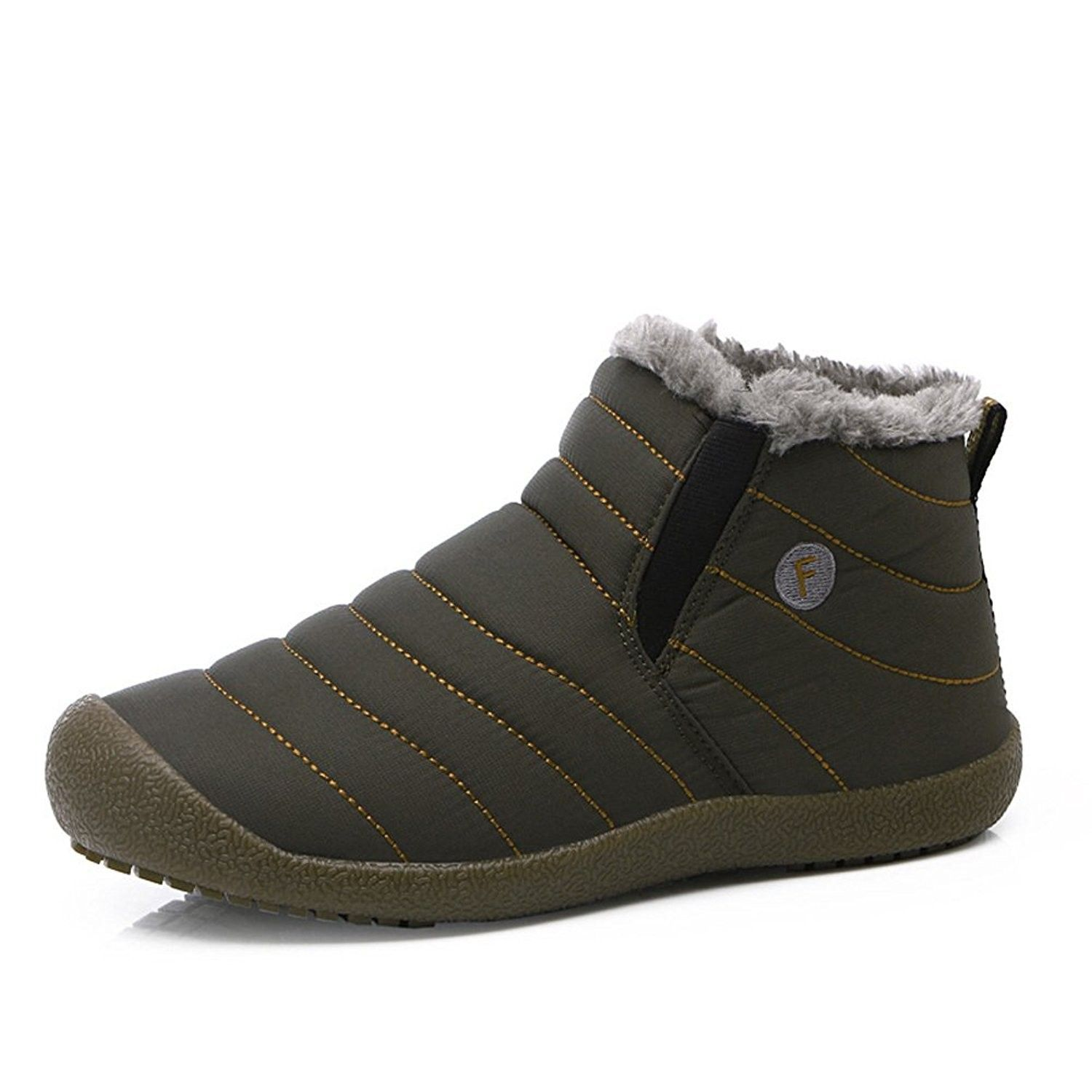 e6af530364 Slip On Snow Boots For Men Women-Anti-Slip Lightweight Ankle Bootie ...