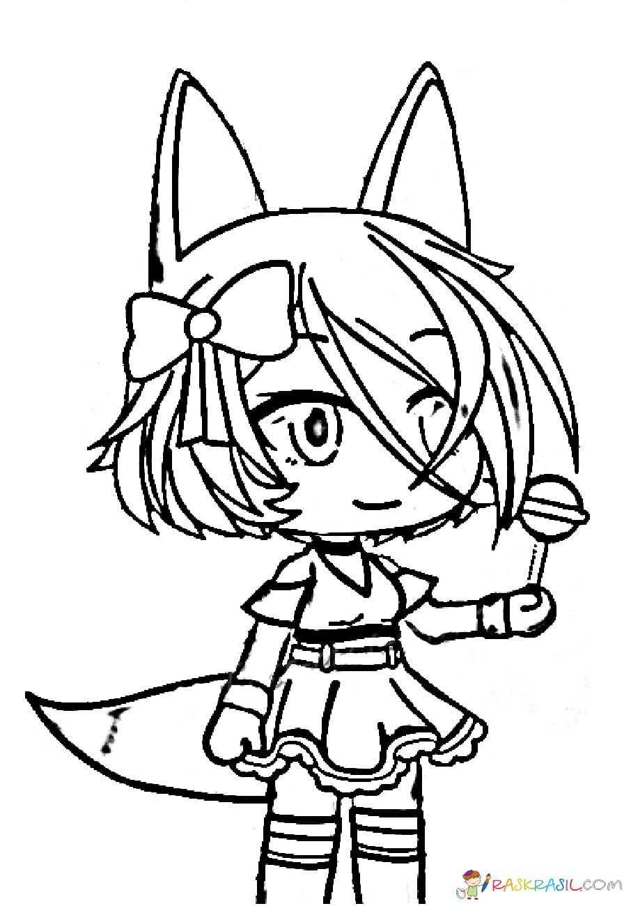 Gacha Life Coloring Pages Unique Collection Print For Free Chibi Coloring Pages Coloring Pages Colorful Drawings