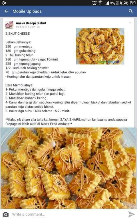 Biskut Cheese Makanan Dan Minuman Makanan Resep Makanan