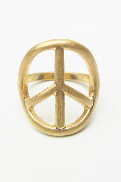 """Peace Symbol"" Ring"