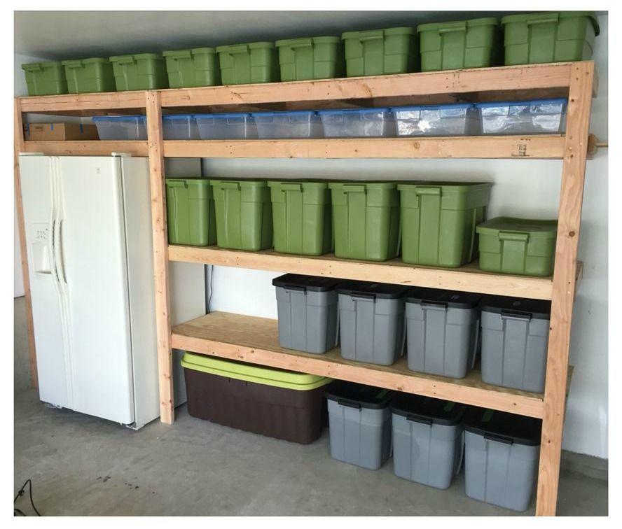 Ana white easy diy garage shelves diy projects diy
