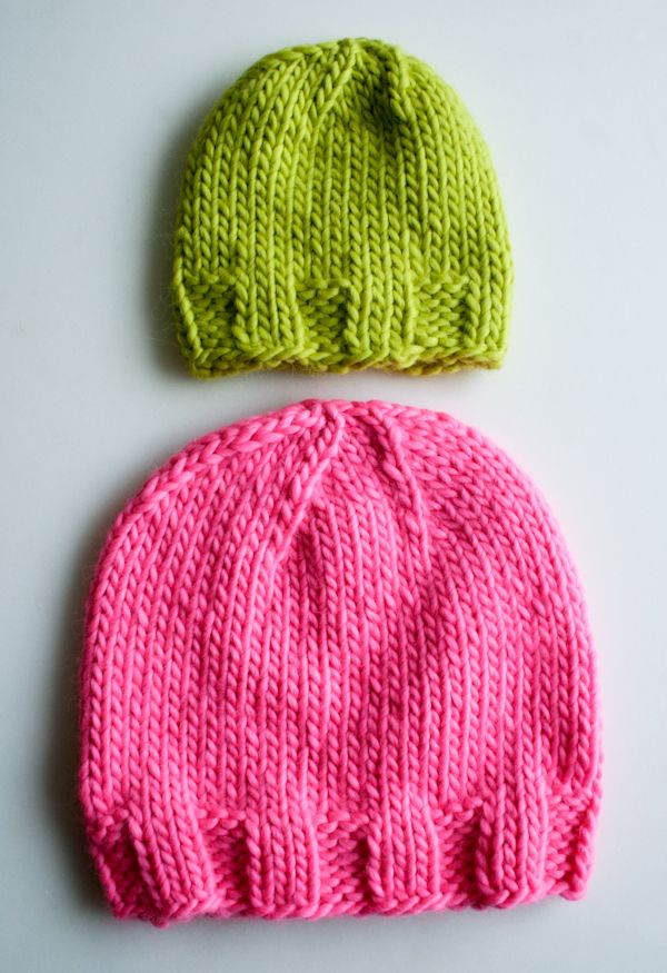 d7c46f0a1 Knit Gift Ideas  5 FREE Hat Knit Patterns For Beginners + Sizes ...