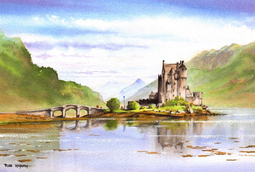 Eilean Donan Castle By Rob Wigham With Images Watercolor