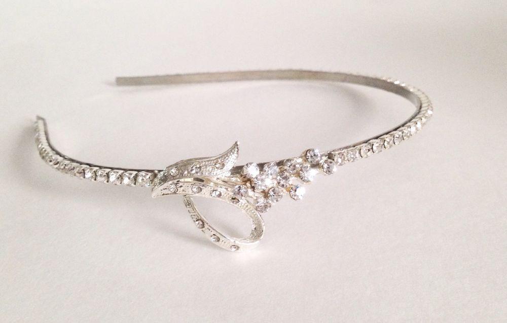 Prom Rhinestone Headband Bride Wedding Hair Accessory #Headband