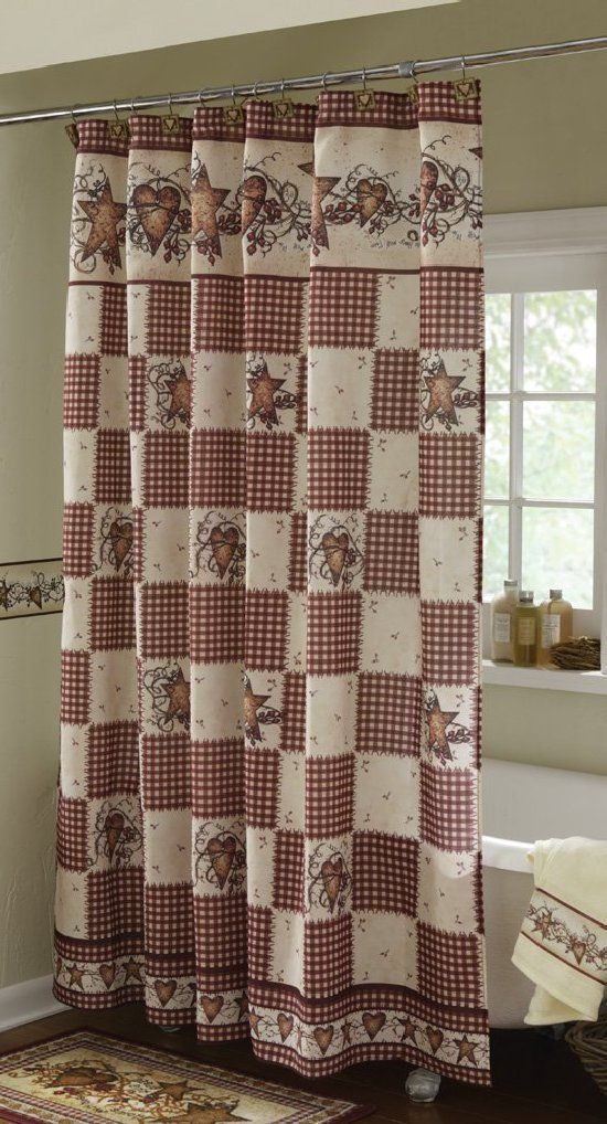 Country Shower Curtain Sets Double Swag Bathroom Shower Curtain - Country shower curtains for the bathroom for bathroom decor ideas