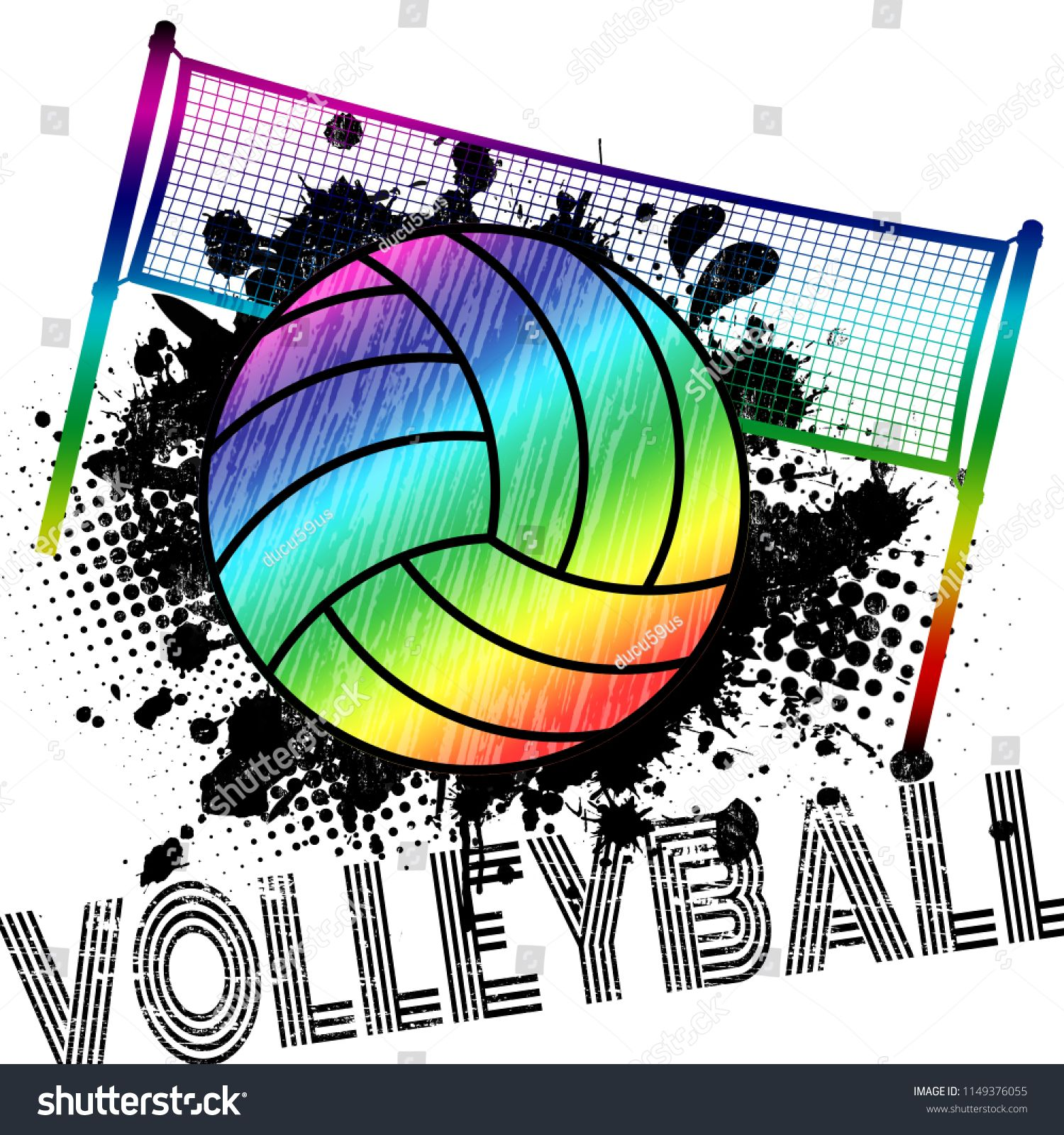 Poster Or Banner With A Volleyball Ball And Splashes On Abstract Background Vector Illustration Ad Spon Volleyb Vector Illustration Poster Design Poster