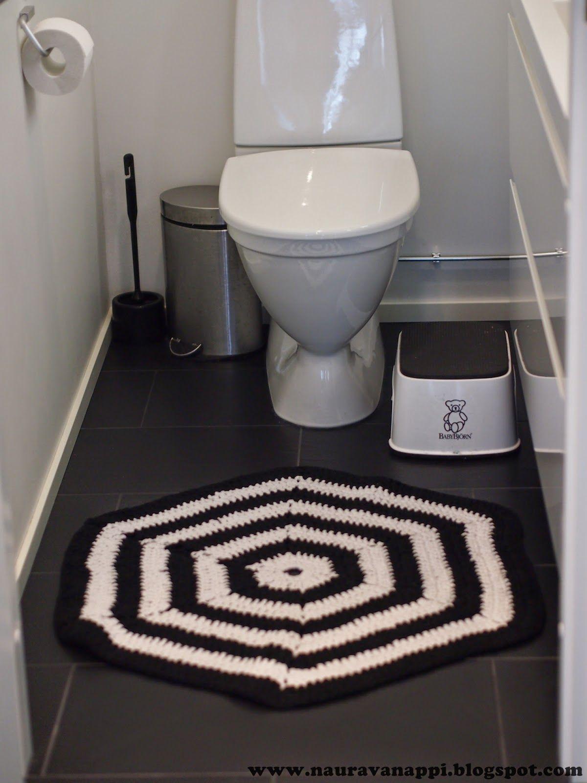 Crocheted hexagon carpet