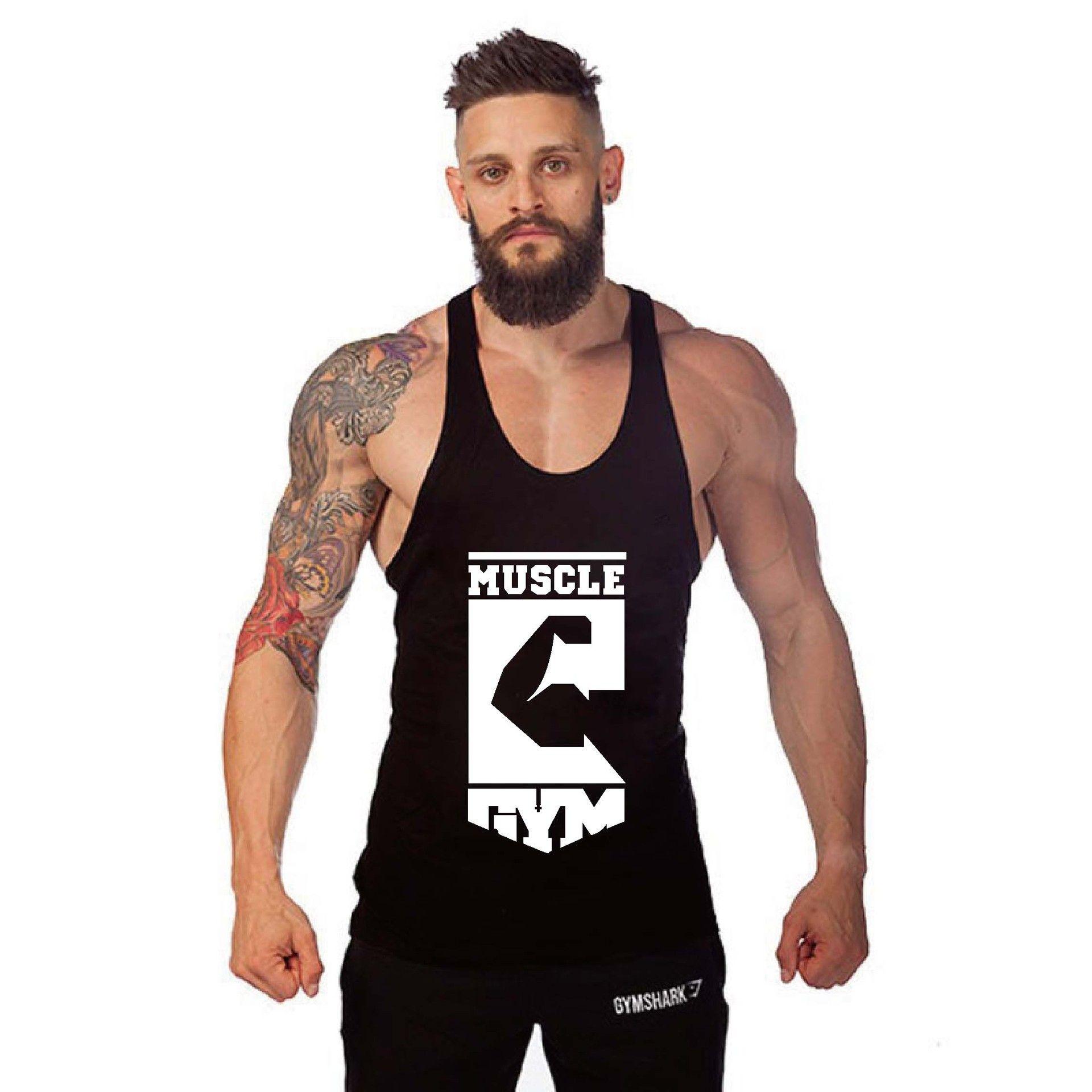 Men Gym Muscle Shirt Y Back Stringer Tank Top Bodybuilding Sport Fitness Vest