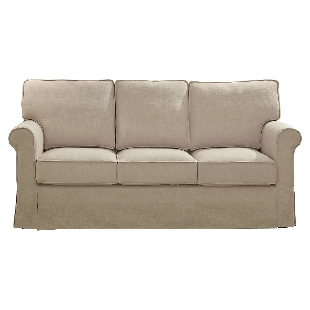 Savannah Natural Linen Sofa With Slip Cover At Home