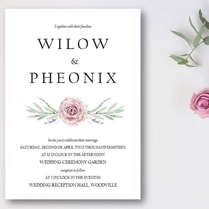 Invites She Writes Rustic Floral Invitation Follow Us On