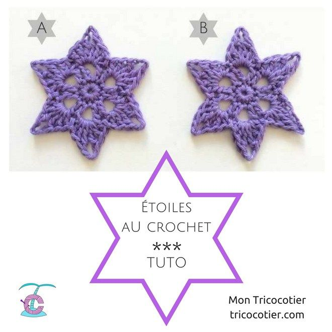 Etoiles au crochet tuto   crochet   Pinterest   Lilas, Navidad y Tejido