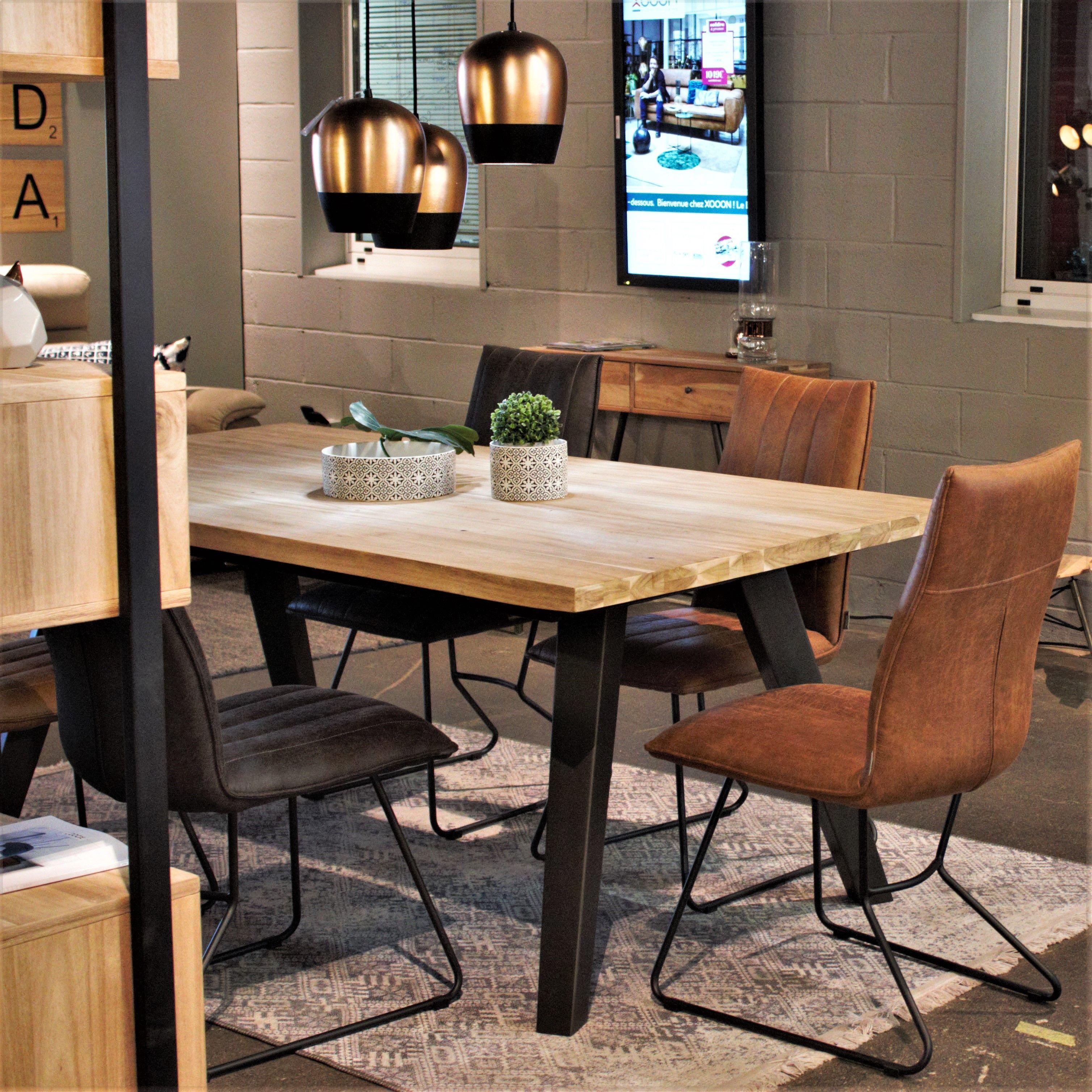 Melangez Les Materiaux Pour Une Nouvelle Harmonie Deco Danjouboda Homeconcept Tableindustrielle Styleindustriel Lu En 2020 Mobilier Design Cuisines Deco Deco