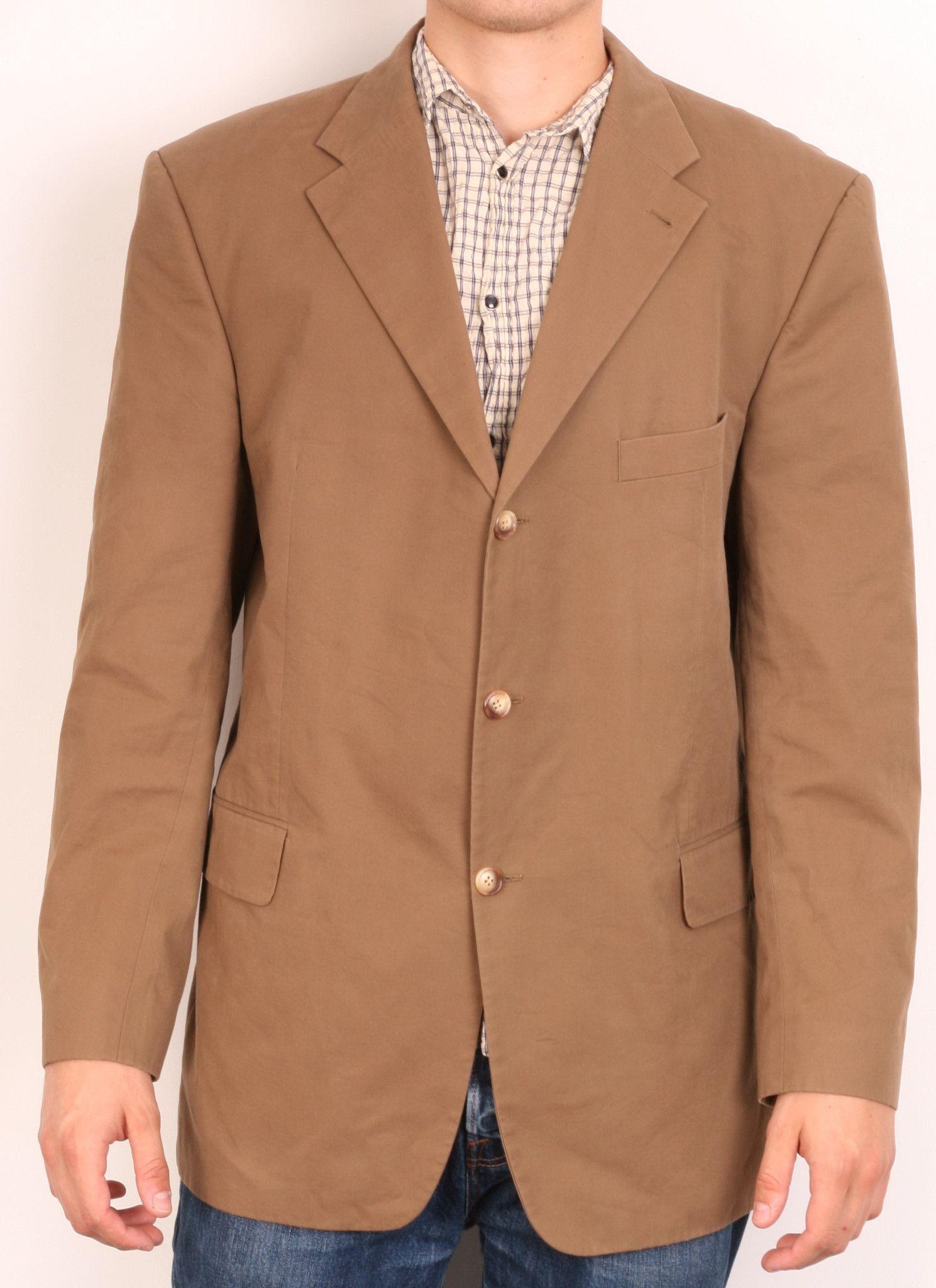 Tommy Hilfiger Mens L Top Suit Brown Blazer Jacket