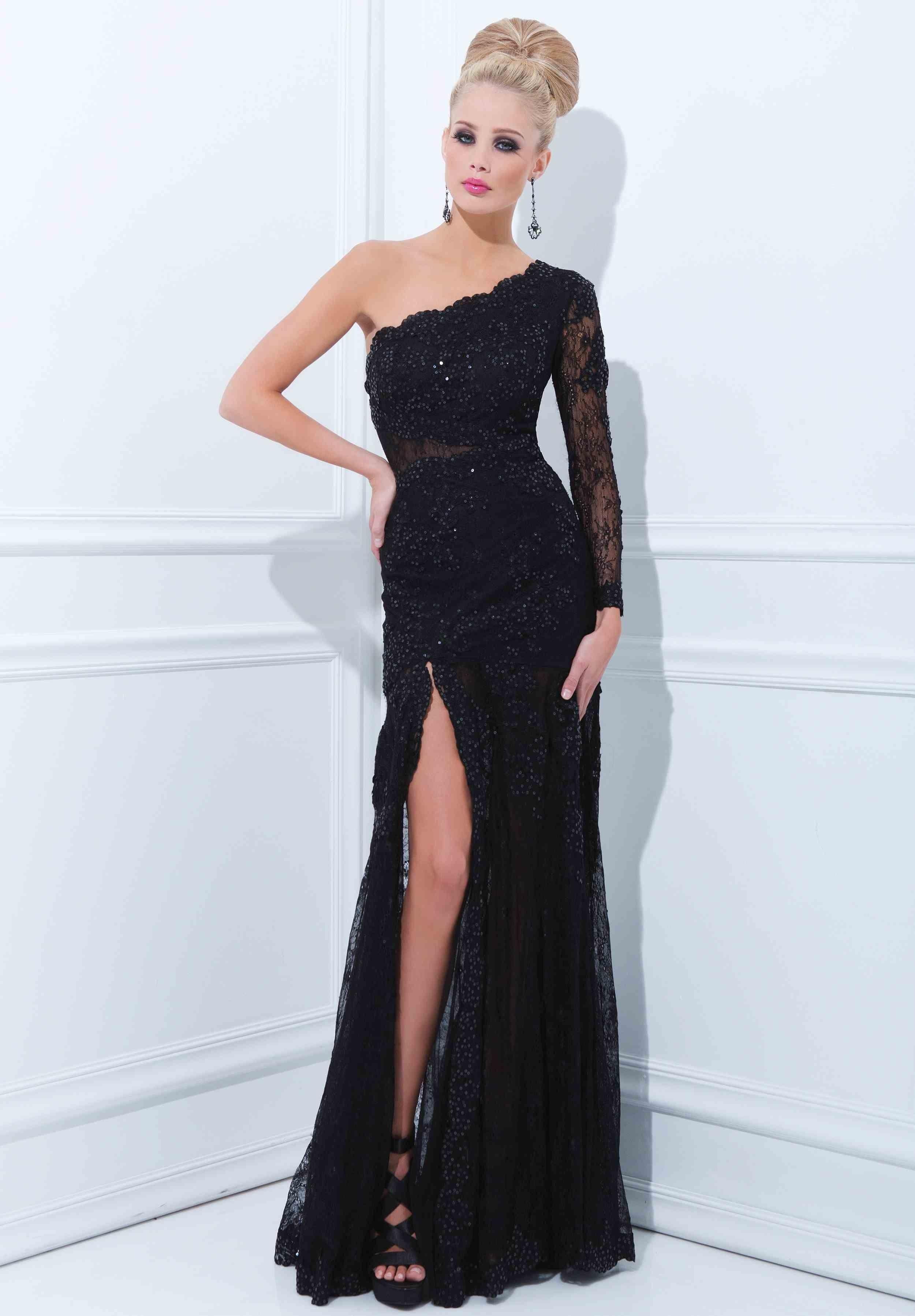Beautiful Sheath / Column One-shoulder Floor-length 2014 New Style Prom Dress $239.99 Sheath/Column Prom Dresses