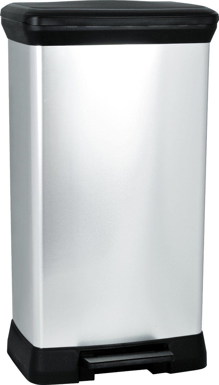 Curver 187152 poubelle p dale plastique argent 50 l for Poubelle cuisine 50 l