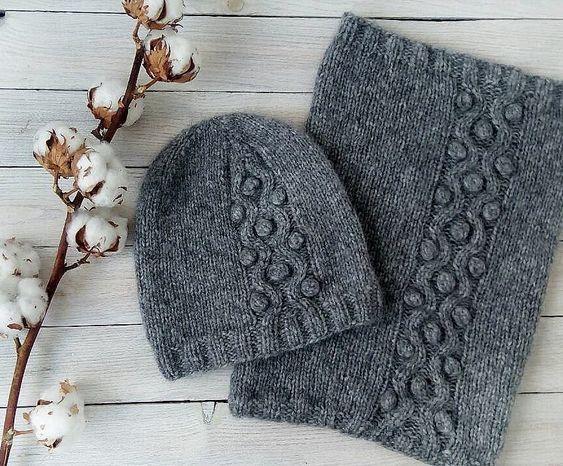 Örgü Atkı Şapka Modelleri #bonnets