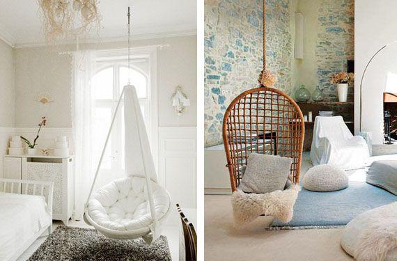 Sillas colgantes un elemento distintivo en tu hogar Hanging chairs