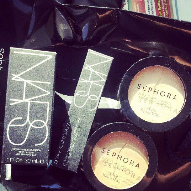 Sephora haul: NARS sheer matte foundation, NARS radiant creamy concealer, Sephora mattifying foundation