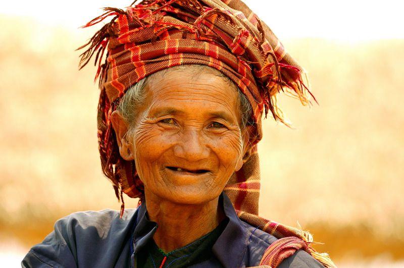 Old woman, Burma